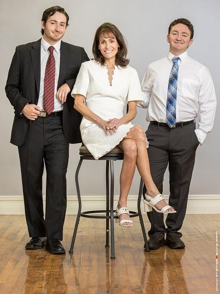 Deb Bolus, Daniel and Nick Grosek
